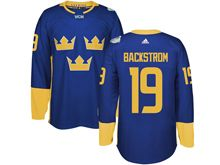 Mens Nhl Team Sweden #19 Nicklas Backstrom Blue 2016 World Cup Hockey Jersey