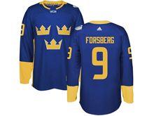 Mens Nhl Team Sweden #9 Filip Forsberg Blue 2016 World Cup Hockey Jersey