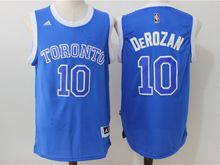 Mens Nba Toronto Raptors #10 Demar Derozan Blue (2016 New) Jersey