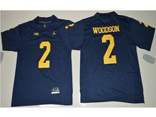 Mens Ncaa Nfl Michigan Wolverines #2 Charles Woodson Navy Blue Limited Jersey