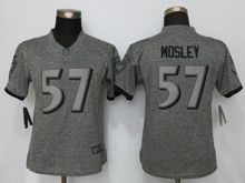 Women   Baltimore Ravens #57 C.j. Mosley Gray Stitched Gridiron Limited Jersey