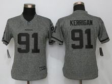 Women   Washington Redskins #91 Ryan Kerrigan Gray Stitched Gridiron Limited Jersey