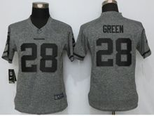 Women   Washington Redskins #28 Darrell Green Gray Stitched Gridiron Limited Jersey