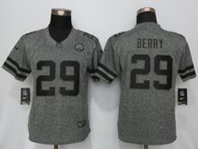 Women   Kansas City Chiefs #29 Eric Berry Gray Stitched Gridiron Limited Jersey