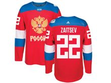 Mens Nhl Team Russia #22 Nikita Zaitsev Red 2016 World Cup Hockey Jersey