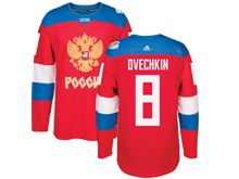 Mens Nhl Team Russia #8 Alex Ovechkin Red 2016 World Cup Hockey Jersey
