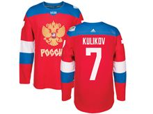 Mens Nhl Team Russia #7 Dmitry Kulikov Red 2016 World Cup Hockey Jersey
