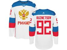 Mens Nhl Team Russia #92 Evgeny Kuznetsov White 2016 World Cup Hockey Jersey