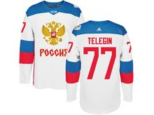 Mens Nhl Team Russia #77 Ivan Telegin White 2016 World Cup Hockey Jersey