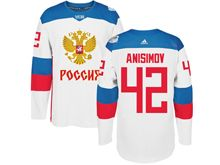 Mens Nhl Team Russia #42 Artem Anisimov White 2016 World Cup Hockey Jersey