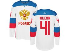 Mens Nhl Team Russia #41 Nikolay Kulemin White 2016 World Cup Hockey Jersey