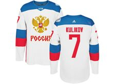 Mens Nhl Team Russia #7 Dmitry Kulikov White 2016 World Cup Hockey Jersey