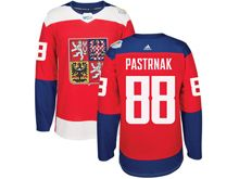 Mens Nhl Team Czech #88 David Pastrnak Red 2016 World Cup Hockey Jersey