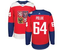 Mens Nhl Team Czech #64 Roman Polak Red 2016 World Cup Hockey Jersey