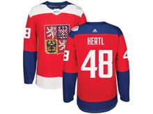 Mens Nhl Team Czech #48 Tomas Hertl Red 2016 World Cup Hockey Jersey