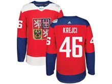 Mens Nhl Team Czech #46 David Krejci Red 2016 World Cup Hockey Jersey
