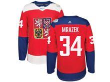 Mens Nhl Team Czech #34 Petr Mrazek Red 2016 World Cup Hockey Jersey