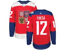 Mens Nhl Team Czech #12 Radek Faksa Red 2016 World Cup Hockey Jersey