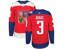 Mens Nhl Team Czech #3 Radko Gudas Red 2016 World Cup Hockey Jersey