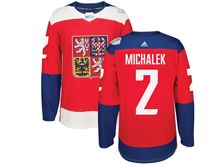 Mens Nhl Team Czech #2 Zbynek Michalek Red 2016 World Cup Hockey Jersey