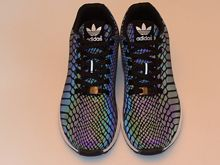 Men Adidas Zx Flux Xeno Running Shoes Color Iridescence