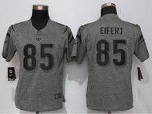 Women   Cincinnati Bengals #85 Tyler Eifert Gray Stitched Gridiron Limited Jersey