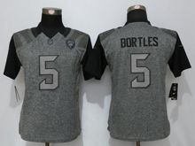Women   Jacksonville Jaguars #5 Blake Bortles Gray Stitched Gridiron Limited Jersey
