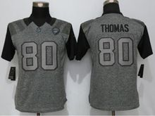 Women   Jacksonville Jaguars #80 Julius Thomas Gray Stitched Gridiron Limited Jersey