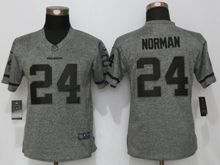 Women   Washington Redskins #24 Josh Norman Gray Stitched Gridiron Limited Jersey