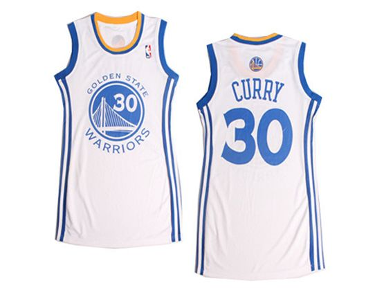 Women  Nba Golden State Warriors #30 Curry White Jersey