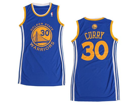 Women  Nba Golden State Warriors #30 Curry Light Blue Jersey