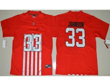 Mens Ncaa Nfl Ohio State Buckeyes #33 Pete Johnson Red Alternate Elite Jersey