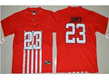 Mens Ncaa Nfl Ohio State Buckeyes #23 Lebron James Red Alternate Elite Jersey