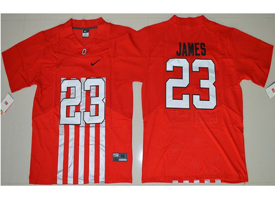 Mens Ncaa Nfl Ohio State Buckeyes #23 Lebron James Red Alternate Elite Jersey