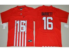 Mens Ncaa Nfl Ohio State Buckeyes #16 J.t. Barrett Red Alternate Elite Jersey
