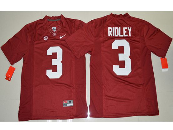 Mens Ncaa Nfl Alabama Crimson #3 Calvin Ridley Crimson Limited Jersey