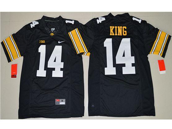 Mens Ncaa Nfl Iowa Hawkeyes #14 Desmond King Black Jersey