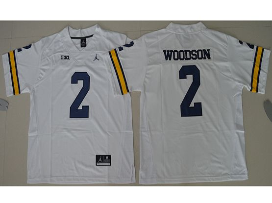 Mens Ncaa Nfl Michigan Wolverines #2 Charles Woodson White Limited Jersey