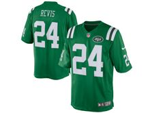 Mens   New York Jets #24 Darrelle Revis Green Color Rush Limited Jersey
