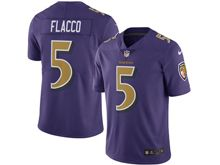 Mens Nfl Baltimore Ravens #5 Joe Flacco Purple Color Rush Limited Jersey