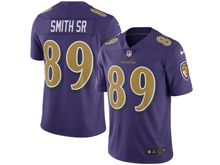 Mens Nfl Baltimore Ravens #89 Steve Smith Sr. Purple Color Rush Limited Jersey