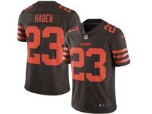 Mens Nfl Cleveland Browns #23 Joe Haden Brown Color Rush Limited Jersey