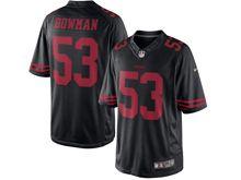 Mens   San Francisco 49ers #53 Navorro Bowman Black Color Rush Limited Jersey