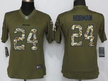 Women   Washington Redskins #24 Josh Norman Green Salute To Service Limited Jersey