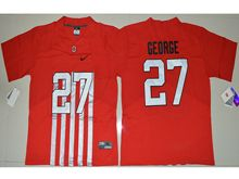 Mens Ncaa Nfl Ohio State Buckeyes #27 Eddie George Red Alternate Elite Jersey