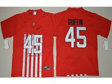 Mens Ncaa Nfl Ohio State Buckeyes #45 Archie Griffin Red Alternate Elite Jersey
