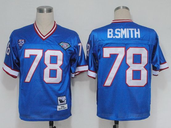 Mens Nfl Buffalo Bills #78 Bruce Smith Blue Throwbacks Jersey
