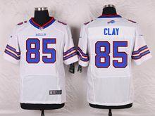 Mens Nfl Buffalo Bills #85 Charles Clay White Elite Jersey