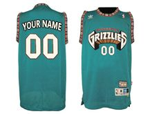 Mens Nba Vancouver Grizzlies (custom Made) Green Mesh Jersey