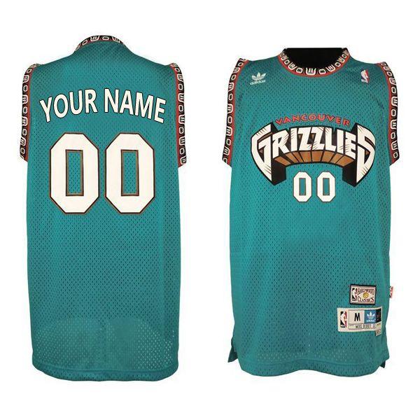 Mens Nba Vancouver Grizzlies (custom Made) Green Mesh Jersey